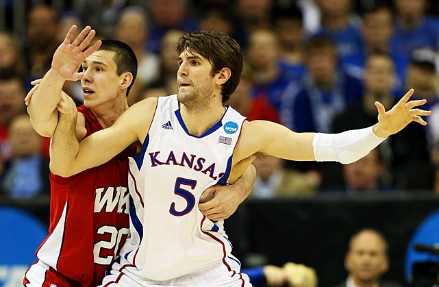 <bold>Kansas couldn't have advanced to last year's national title game without Withey -- and he's at it again. He had 16 rebounds, 16 points and five rebounds in a win over Carolina, marking the fourth time in tournament history that a player had at least a 15-15-5 line.</bold>