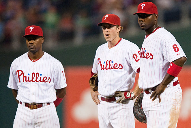 Jimmy Rollins, 34, Chase Utley, 34, and Ryan Howard, 33, helped Philadelphia to five straight NL East titles from 2007-11.