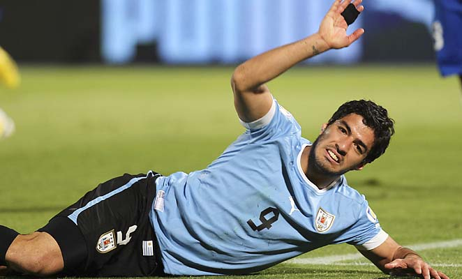 Luis Suarez and Uruguay are in sixth place in CONMEBOL qualifying standings.
