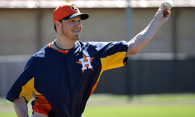 Erik Bedard will start Houston's fifth game of the season.