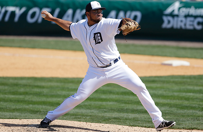 Joaquin Benoit will be one candidate to close after the Tigers sent Bruce Rondon back to AAA Toledo.
