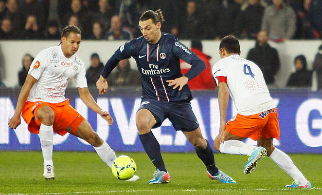 Zlatan Ibrahmovic had the assist on Kevin Gameiro's game-winning goal against Montpellier.