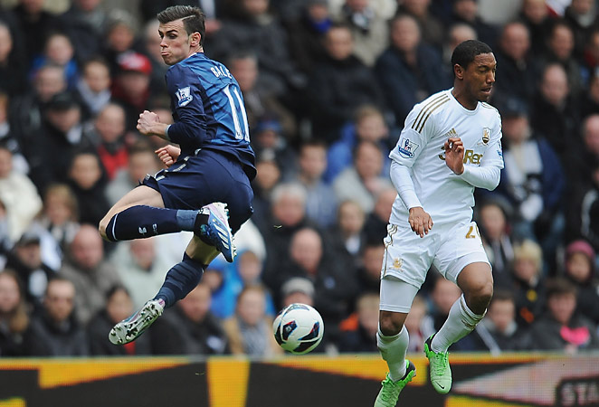 Gareth Bale scored his 27th goal of the season and had an assist against Swansea on Saturday.