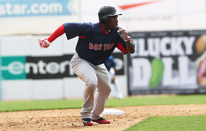 Outfielder Jackie Bradley Jr., 22, earned a starting spot in Boston's lineup after a torrid spring.