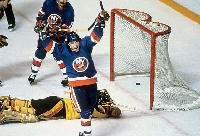 The Islanders defeated the Canucks to win their third straight Cup. Bossy's most memorable moment was a goal he scored while airborne with his body parallel to the ice.