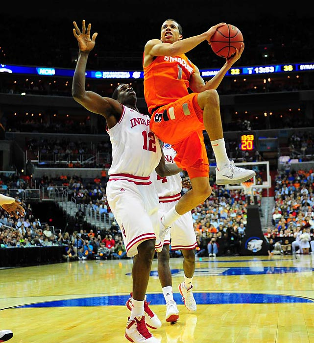 The Orange defense got all the headlines, but point guard Michael Carter-Williams did his part on offense, racking up a game-high 24 points to down the Hoosiers.