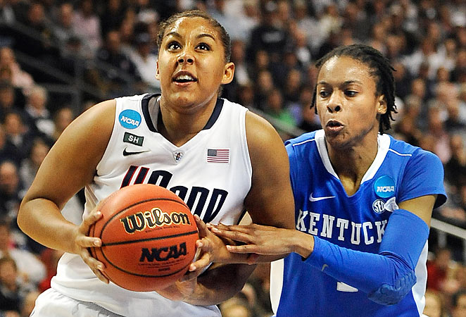 UConn's Kaleena Mosqueda-Lewis had 17 points in the Huskies' win over Kentucky to send them to the Final Four.