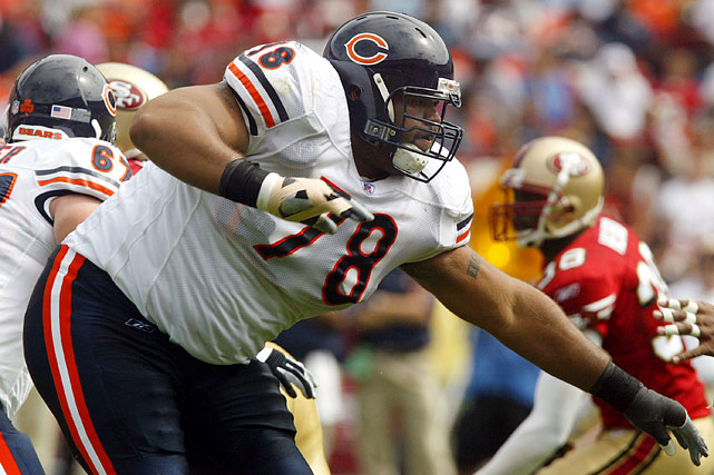 Here he is, the record-holder for the heaviest player in the history of the NFL. At 410 pounds, Gibson actually slimmed down for the NFL; he reportedly weighed in at 440 pounds in high school. As a freshman in college, Gibson played fullback, and still weighed 260 pounds. His weight wasn't enough to scare off teams, as the Lions tabbed Gibson with the 27th overall pick in 1999. The tackle only wound up playing in 38 career games, though, latching on with four teams in eight seasons.