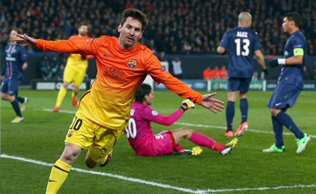 Lionel Messi put Barcelona ahead of PSG, but did not play in the second half because of an injury.