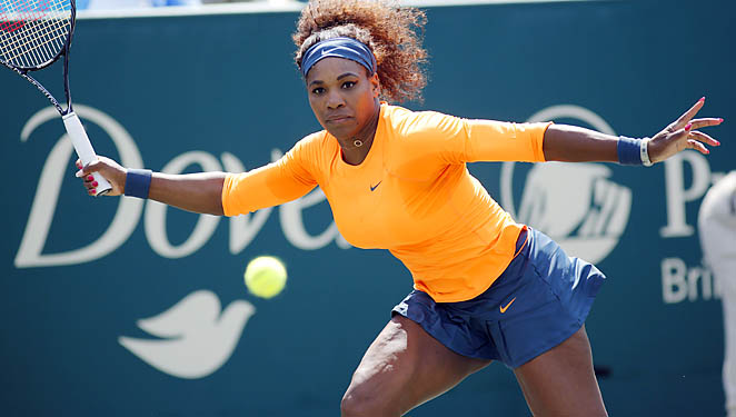 Serena Williams is back in action after winning the Sony Open last week.