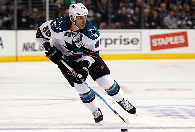 Ryane Clowe was drafted by the Sharks in 2001 and has been with the team for eight seasons.
