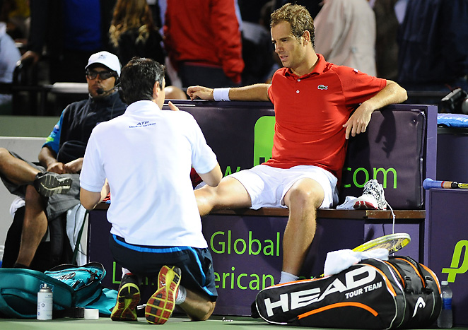 Richard Gasquet is one of several players coping with nagging injuries from playing on concrete.