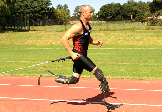 Oscar Pistorius, training in South Africa in 2012, wants to start training regularly again after being charged with his girlfriend's murder on Feb. 14.
