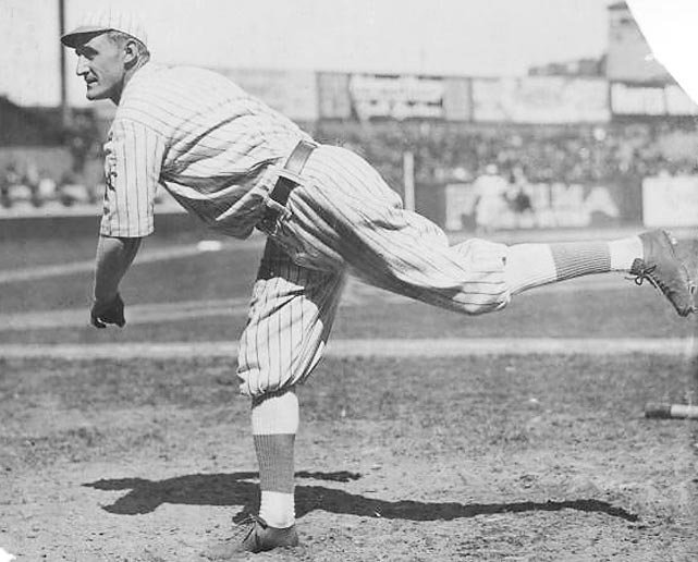 "The Giants' George ""Hooks"" Wiltse retired the first 26 Phillies he faced on Independence Day in 1908, but he hit the 27th, opposing pitcher George McQuillan, with a 2-2 pitch that, per Wiltse's SABR biography, never even should have been thrown. Home plate umpire Cy Rigler had called Wiltse's 1-2 pitch to McQuillan a ball, but later admitted that he had blown the call. Wiltse retired the next batter but the game went to extra innings, where the Giants won 1-0 and Wiltse completed his 10-inning no-hitter."