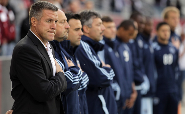 Sporting K.C. coach Peter Vermes scored 11 goals in 67 appearances for the U.S. from 1988-97.