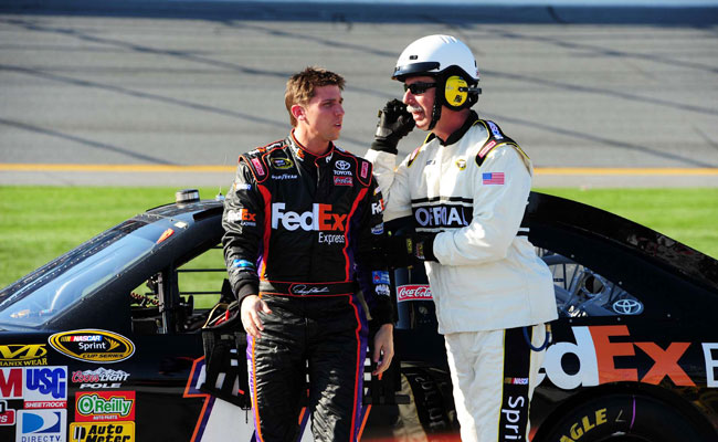 Denny Hamlin is targeting the April 27 race at Richmond for his return from a back injury.