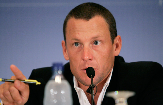 Lance Armstrong won't swim in an international competition after complaints from the governing body.