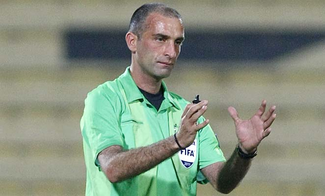 Referee Ali Sabbagh has worked some 2014 World Cup qualifiers.