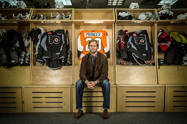 With his 18-season NHL career in jeopardy, Flyers defenseman Chris Pronger visited the team's Skate Zone facility in Voorhees, NJ, and spoke to SI about his ongoing battle with post-concussion symptoms and a debilitating eye injury. You can watch the video of his interview and read Brian Cazeneuve's feature story in the April 22 issue of <italics>Sports Illustrated</italics>. Here's a look back at Pronger's distinguished and surely Hall of Fame career.