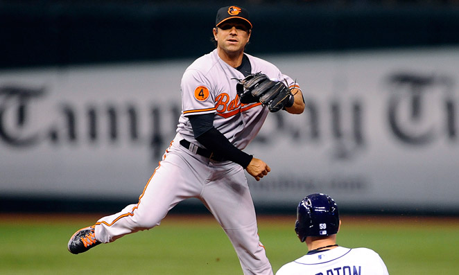 Brian Roberts hurt his hamstring on a slide during Baltimore's win over Tampa Bay on Thursday.
