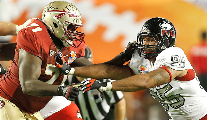 Menelik Watson allowed just one sack in 12 starts for Florida State in 2012.