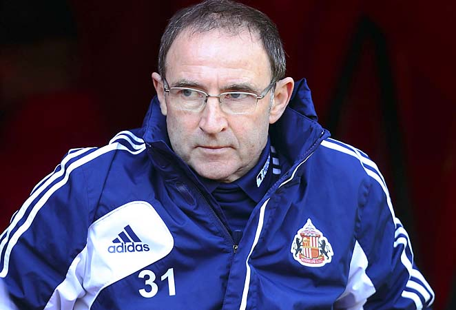 Martin O'Neill was sacked at Sunderland and replaced by Paolo di Canio this week.