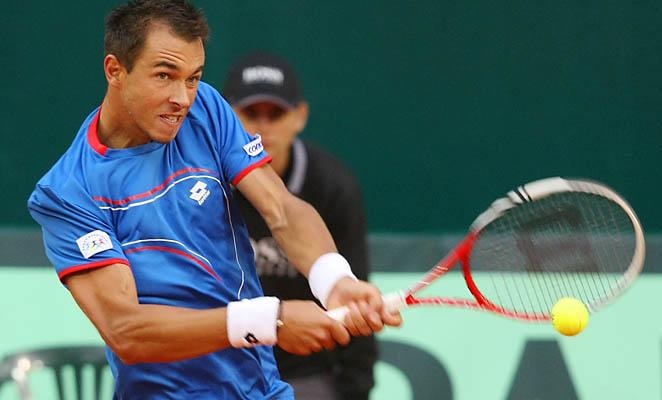 Czech Lukas Rosol beat Kazakh Andrey Golubev 4-6, 6-4, 6-2, 7-6 (6).