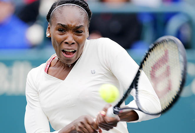 Venus Williams withdrew from the Sony Open last week with a back injury.