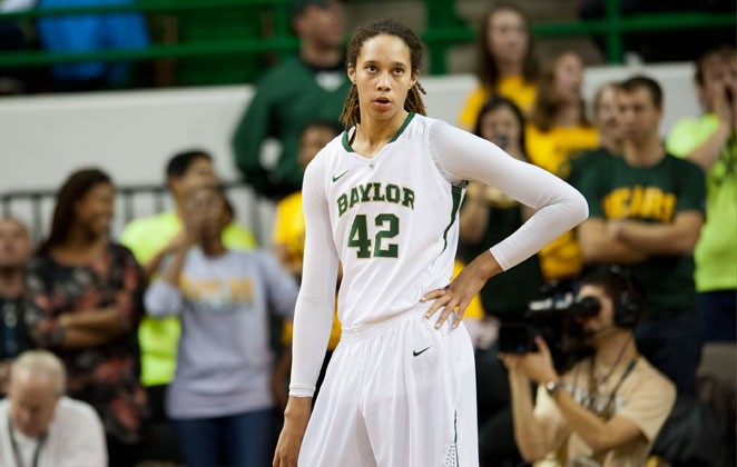 Brittney Griner told reporters at the women's Final Four she wouldn't back down from a challenge to make it in the NBA.