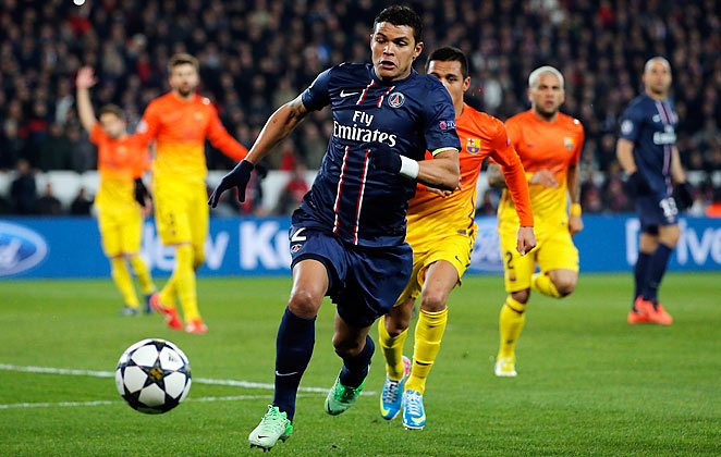 Thiago Silva could join Thiago Motta and Blaise Matuidi on the sidelines for PSG against Barcelona.