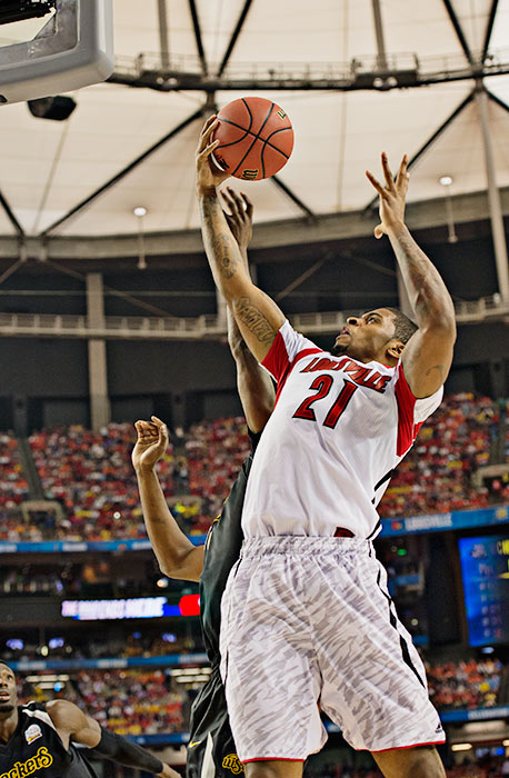 Chane Behanan pulled down a team-high nine rebounds and scored 10 points.