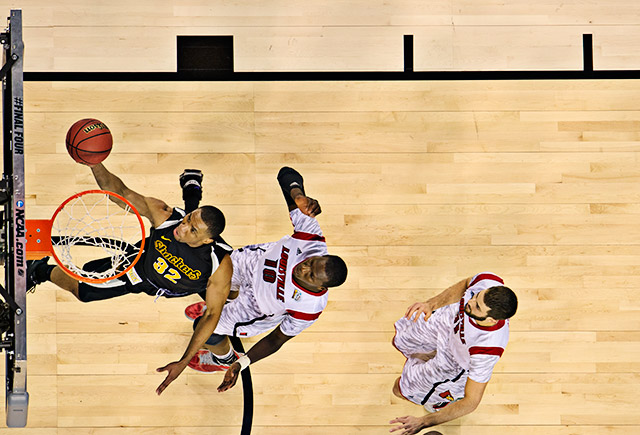 Tekele Cotton sparked an 11-2 run for Wichita State with a jumper, and his layup to finish it off gave Wichita State a 43-32 lead with 14:19 to play. But Louisville wouldn't be denied.