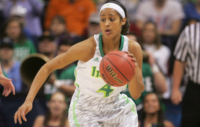 Skylar Diggins is averaging just over 17 points this season for her 35-win Notre Dame squad.