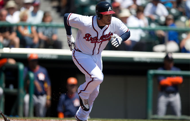 Freddie Freeman's fast start for the Braves (.412/.474/.647) will have to come to a hault as he's headed for the DL.