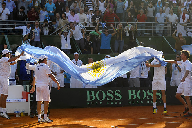 Argentina will face the defending champion Czech Republic in the Davis Cup semifinals in the fall.