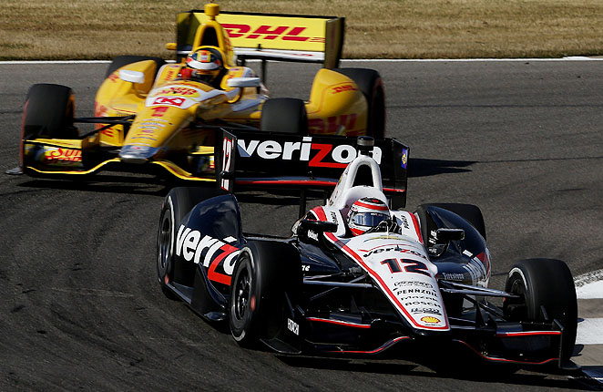 Ryan Hunter-Reay (DHL car) had never finished better than 12th at Barber Motorsports Park until Sunday's victory.