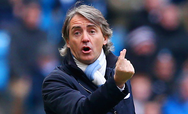 Roberto Mancini told British newspapers that Manchester City would have had a better shot at the title with better players.