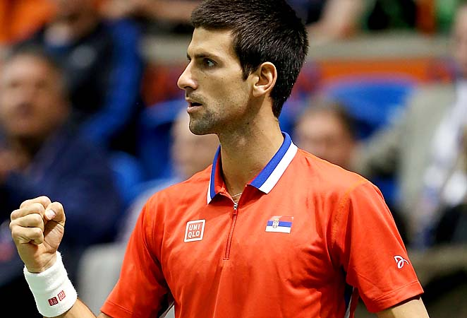 Novak Djokovic and Serbia will play Canada in the Davis Cup semifinals.