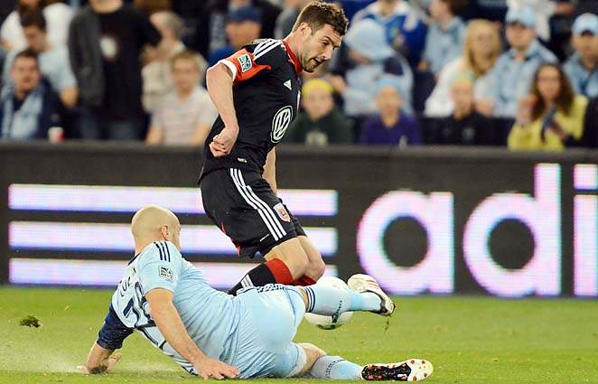 Chris Pontius and D.C. United lost 1-0 at Sporting Kansas City on Friday on an 89th-minute goal.