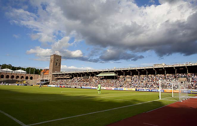 Djurgarden plays its home matches at Stockholm's Olympic Stadium.