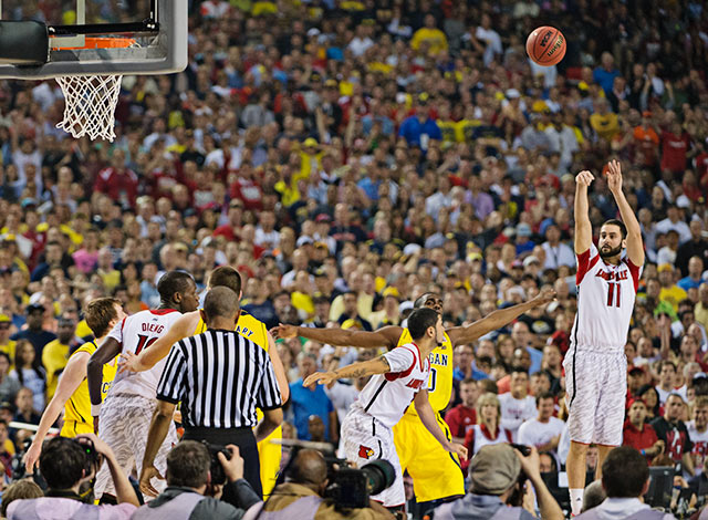 Even when its best player struggled, Louisville found a way to stay resilient. In one of the best title games ever, Louisville outlasted Michigan 82-76 at the Georgia Dome in Atlanta. Michigan got 17 points from unheralded reserve Spike Albrecht and a tremendous all-around performance from star Trey Burke. But the Cards had Most Outstanding Player James Hancock and resilient senior Peyton Siva to guide them on a day when star player Russ Smith struggled. It was a game for the ages, and a win was in the Cards for the top overall seed.
