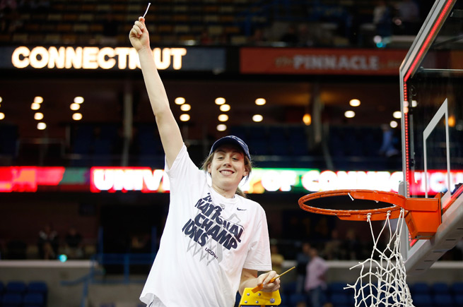 Breanna Stewart became the first freshman in 26 years to win Most Oustanding Player of the Final Four.
