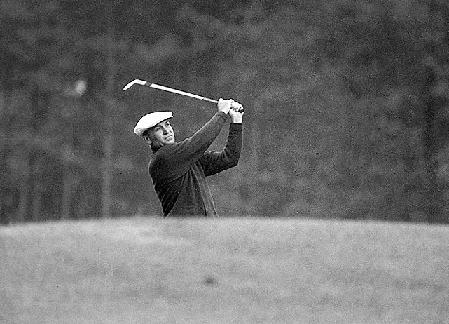 In one of the greatest Masters ever, Ben Hogan (pictured) lost by one stroke to Sam Snead in an 18-hole playoff in 1954.