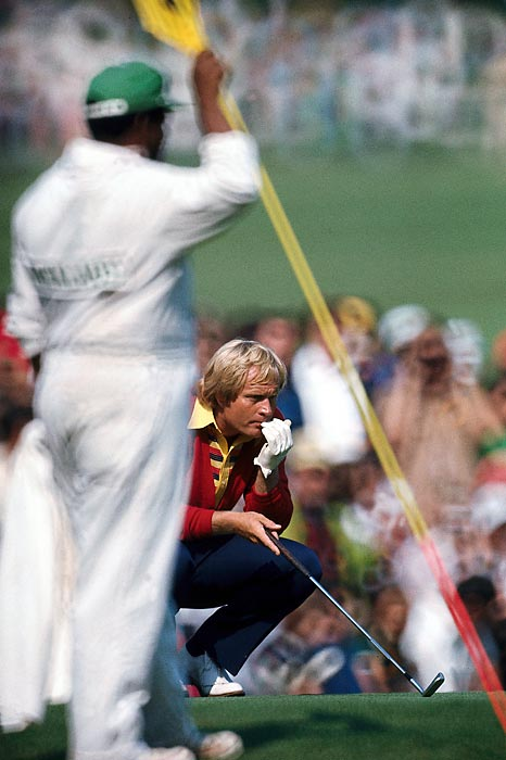 Nicklaus shot rounds of 68, 67, 73 and 68 in his thrilling Masters win over Johnny Miller and Tom Weiskopf in 1975.