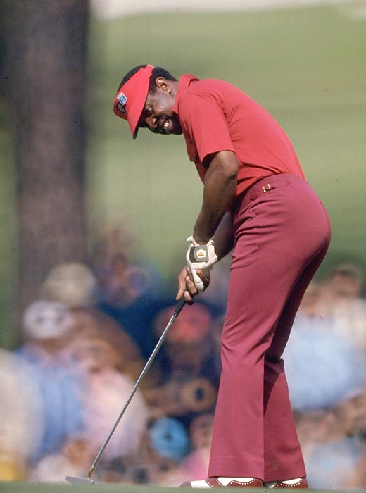 In 1975, Lee Elder became the first African-American to play in the Masters.