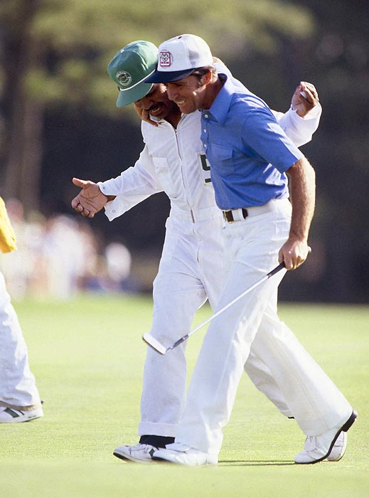 Gary Player birdied seven of the final 10 holes to win by one in 1978.