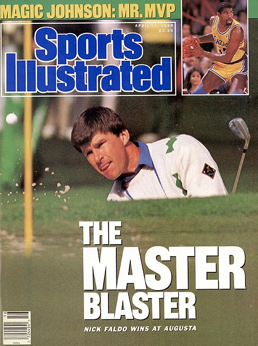 Nick Faldo graces the cover of SI after winning his first Masters in 1989, downing Scott Hoch in a sudden-death playoff.