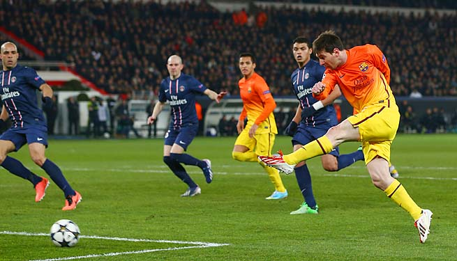 Lionel Messi and Barcelone tied PSG 2-2 in their first leg in Paris.