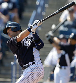 Derek Jeter had a few at-bats in spring training but opened the season on the disabled list.