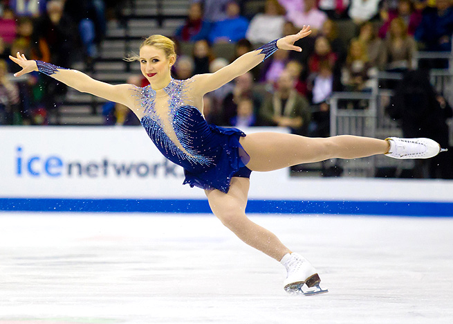 Agnes Zawadzki claimed the bronze at the 2013 U.S. championships behind Ashley Wagner and Gracie Gold.